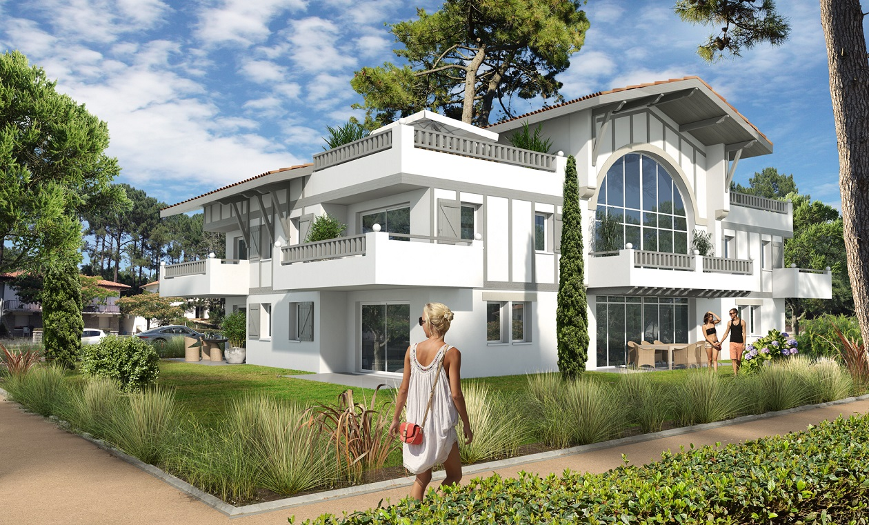 Les Villas Garden 30 logements       -HOSSEGOR Concours Lauréat